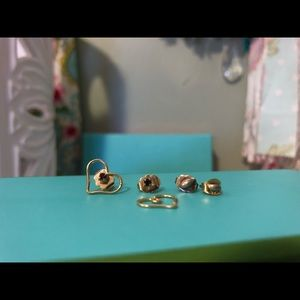 Vintage earrings and accessories for small girls